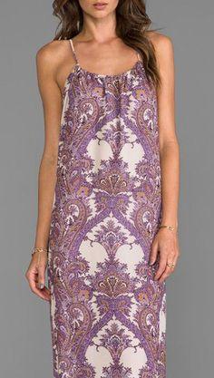 BLU MOON Sayrd Maxi Dress in Purple Paisley - Dresses
