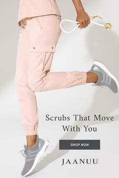 Jogger Pant in Blushing Pink is a contemporary addition to women's medical scrub outfits. Shop Jaanuu for scrubs, lab coats and other medical apparel. Scrubs Outfit, Scrubs Uniform, Cute Scrubs, Cute Nursing Scrubs, Medical Scrubs, Nursing Clothes, Dental Assistant, Nurse Life, Dentistry