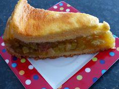 Verboten gut ⚠: Rhabarberkuchen mit Quarkguss
