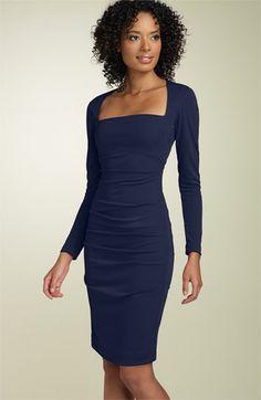 Nicole Miller Long Sleeve Matte Jersey Sheath Dress | Nordstrom