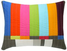 A nod to the T.V. test pattern - bold and geometric.