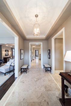 Making an entrance. Corridor Design, Foyer Design, Home Design Decor, Home Room Design, Home Interior Design, Home Entrance Decor, Rooms Home Decor, Classic House Design, Modern House Design