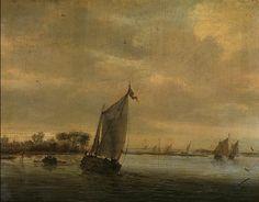 Salomon van Ruysdael - Stil water