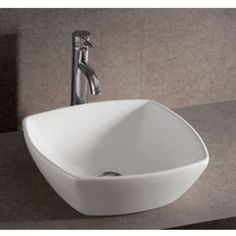 """Bathroom Sinks - China Isabella 16-1/2"""" W Square Above-Mount Bath Sink by Whitehaus 