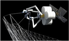 Robot Spiderfab construirá en el espacio partes impresas en 3D para naves de la NASA