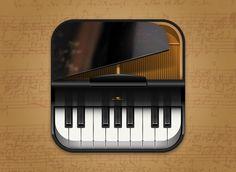 Piano iOS App Icon Design   Krop - Pluckt