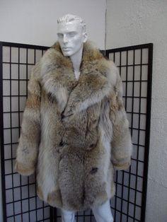 Brand new natural coyote fur jacket coat for men man by Oliverfurs