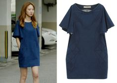 "Gong Hyo-Jin 공효진 in ""It's Okay, That's Love"" Episode 6.  2econd Floor Indigo Dress  #Kdrama #ItsOkayThatsLove 괜찮아, 사랑이야 #GongHyoJin"