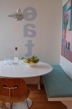 Vertikaler Aufschrift An Der Wand Im Esszimmer   Originelle Idee Für Wand  Streichen   62 Kreative