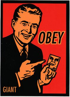 Obey Giant Retro Art by Cale M., via Flickr