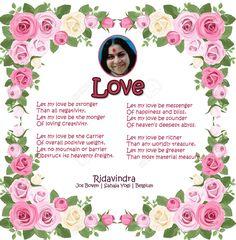 Love- A poem by Ridavindra Jos Boven | Sahaja Yogi | Belgium
