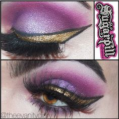 Super sexy #eotd by Theevanitydiary featuring #Sugarpill Birthday Girl, 2am, Poison Plum Dollipop, and Tako. To create that amazing gold eyeliner he used Goldilux and Bulletproof eyeshadows! Lastly, he topped it off with a pair of our Daydreamer false eyelashes. This look brings out his gorgeous hazel eyes so perfectly!