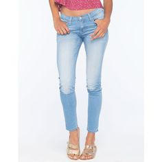 Flying Monkey Womens Skinny Jeans (78 AUD) ❤ liked on Polyvore featuring jeans, light blast, skinny fit jeans, frayed skinny jeans, 5 pocket jeans, zipper jeans and faded jeans