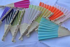 Wedding Decor, Favors,  Asian Folding Fan, Wedding Favors, Hen Party Favors,  Bridal Shower Decor
