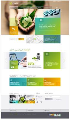 SIGRE Website on Behance