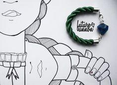 blue agate bracelet, <3 illustration
