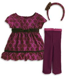 Bitty Baby suger plum dress
