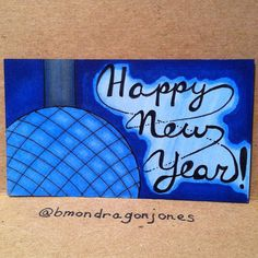 Happy New Year!! Here's to a great 2016!! #happynewyear #timessquareballdrop #timessquareball #2016 #tinycanvas #businesscardart #bicmarkit