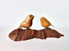 5th Anniversary Ideas: love birds by NorthwoodsCarvings, $74.50