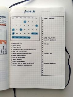 bullet journal idea | bujo monthly log with calendar, to do list, and vertical calendar