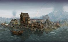 medieval harbour -minecraft - Google zoeken