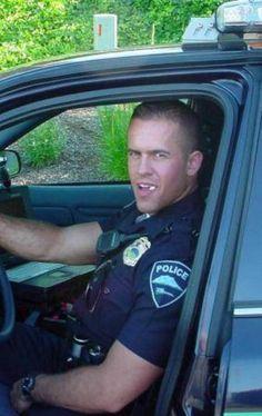 """men in uniform """"hello officer!"""""""