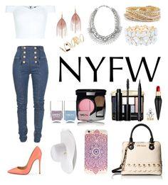 """New York Fashion Week"" by samahafiz2000 ❤ liked on Polyvore featuring New Look, Balmain, Christian Louboutin, Serefina, Stella & Dot, Torrid, Charlotte Russe, BP., Betsey Johnson and Jennifer Lopez"