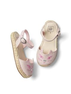 46c181b32982ec Gap Baby Cat Espadrille Sandals Light Pink Toddler Girl Outfits