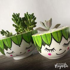Flower Pot Crafts, Clay Pot Crafts, Home Crafts, Painted Plant Pots, Painted Flower Pots, Box Deco, Flower Pot Design, Decorated Flower Pots, Pottery Painting Designs