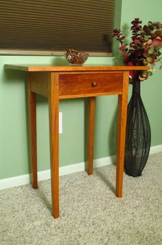 Shaker side table in Cherry by FineWoodenCreations on Etsy