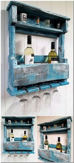 A good idea for the individuals who want a proper place to fix their wine bottles and glasses, it is a unique shelf plan and the bottles can be kept safely without the worry of damage.
