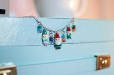 Gnome family charm necklace gnome necklace by LittleGreyDesk, $18.00