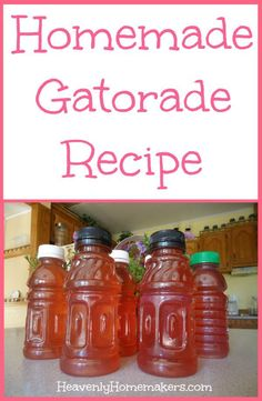 Homemade Gatorade Recipe – healthy ingredients, perfect after exercise! Non Alcoholic Drinks, Fun Drinks, Yummy Drinks, Healthy Drinks, Healthy Snacks, Healthy Recipes, Beverages, Healthy Juices, Detox Juices