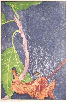 """Fig Leaves"", 1910-13. Woodcut. Edna Boies Hopkins"