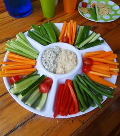 Rainbow party ideas - rainbow veggies