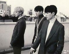 Jimin, Jungkook and Suga ❤ BTS for Singles Magazine January 2017 Issue#BTS #방탄소년단