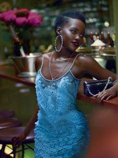 US Vogue October 2015 : Lupita Nyong'o by Mert Alas & Marcus Piggott