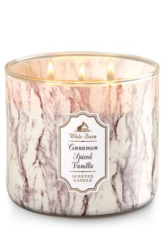 White Barn Bath and Body Works Cinnamon Spiced Vanilla Candle 3 Wick >>> Be sure to check out this awesome product. (This is an affiliate link and I receive a commission for the sales) Bath Candles, 3 Wick Candles, Scented Candles, Candle Jars, Bath Body Works, Bath N Body, Chai, Bougie Candle, Bracelet Hermès