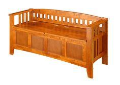 Amazon.com: Linon Storage Bench Short Split Seat Storage: Kitchen & Dining