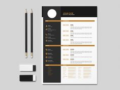 Free flat Indesign resume template with clean and elegant design. Using this template, you can make professional resume template with easy way and minimal cost. This template easy to use. Free Indesign Resume Template, Free Professional Resume Template, Free Resume, Resume Format, Bar Chart, Minimal, How To Make, Flat, Elegant