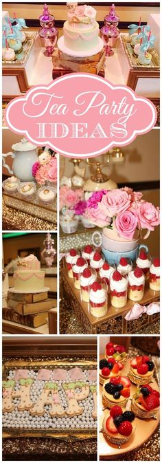 What a gorgeous pink tea party with beautiful cookies! See more party ideas at … What a gorgeous pink tea party with beautiful cookies! Girls Tea Party, Tea Party Theme, Tea Party Birthday, Party Themes, Ideas Party, Cake Birthday, Birthday Ideas, Princess Tea Party Food, 5th Birthday
