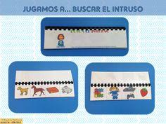JUGAMOS A...BUSCA EL INTRUSO http://blogdelosmaestrosdeaudicionylenguaje.blogspot.com.es/2014/03/coleccion-cuadernitos-jugamos-a.html