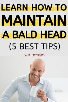 If you want to know how to maintain a shaved head, then these tips are for you! 5 Tips on how to maintain a shaved head for every bald man! Bald Head Man, Shaved Head With Beard, Bald Man, Bald Heads, Shaved Heads, Shaving Head Bald, Shaving Your Head, Bald Men Style, Badass Beard