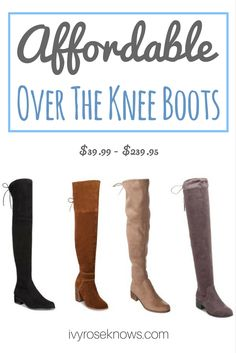 Stuart Weitzman Dupes! So many cute OTK boots that I need this fall!
