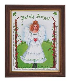 Irish Celtic Angel Print in Frame – Beattitudes Religious Gifts