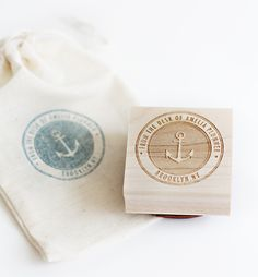 i heart this Besotted Brand anchor stamp