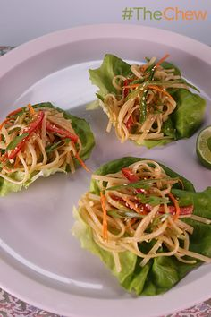 Thai Rice Noodle Wraps by Clinton Kelly are the ultimate healthy dish to serve up your family! #TheChew