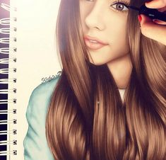 Kristina Webb is an AMAZING artist! This is her drawing of Madison Beer! Follow her on instagram for more art! @colour_me_creative