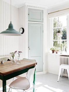 kitchen with simple spring color palette. / sfgirlbybay