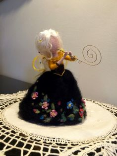 Needle felted Fairy, Waldorf inspired, Christmas Fairy, Fairy with flute, Christmas Ornament, Home decor, Art Doll, Doll Handmade